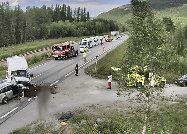 Traffic accident in Saltdal