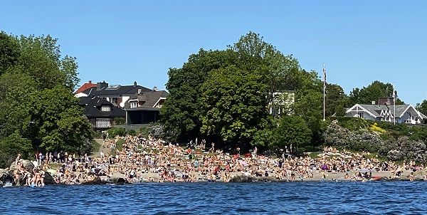 The beach at Huk in Oslo