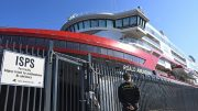 The Hurtigruten ship Roald Amundsen