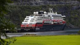 The Hurtigruten ship MS Fridtjof Nansen