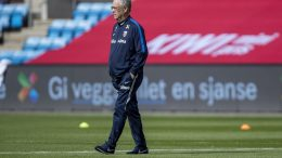 National team manager Lars Lagerbäck and Norway