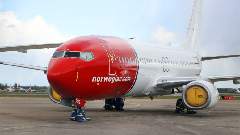 Norwegian airplane