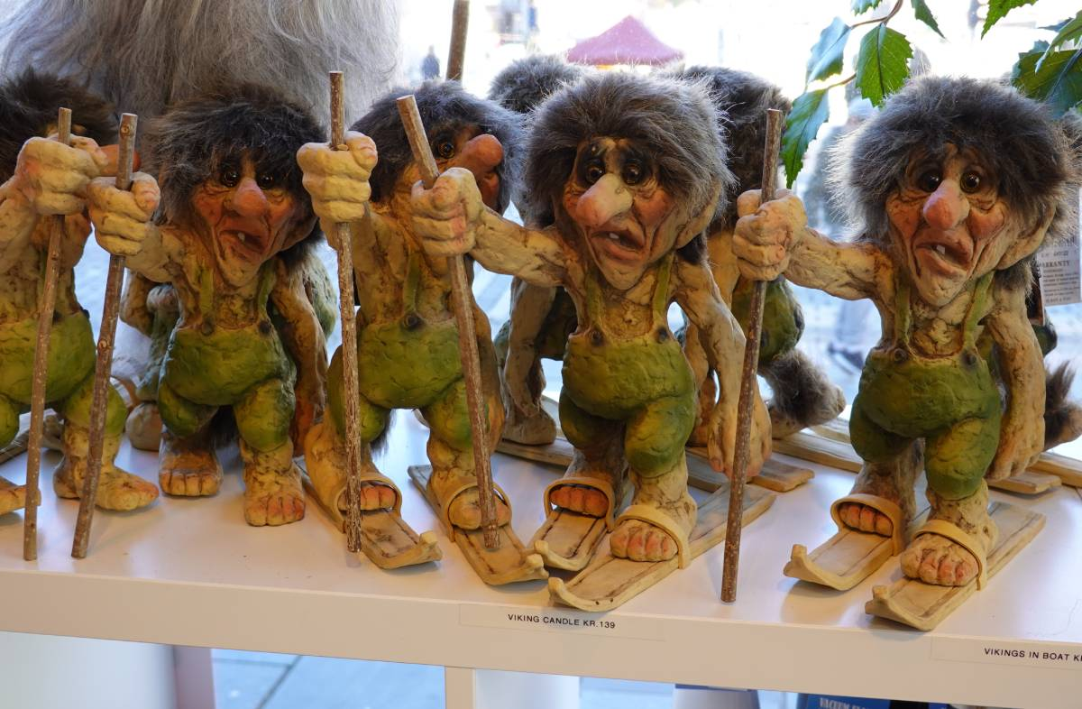 Small trolls in gift shop