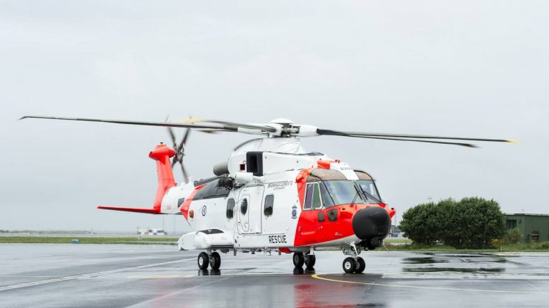 AW101 rescue helicopter