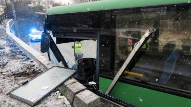 Bus traffic accident