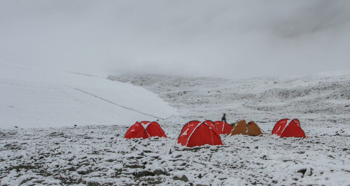 Ice patch basecamp