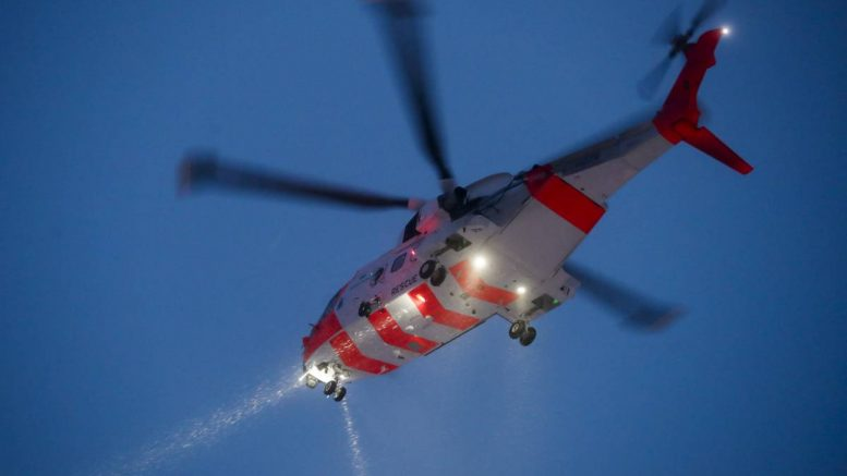 Rescue helicopter night