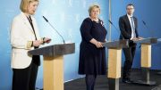 Government - press conference - Melby - Solberg - Ropstad